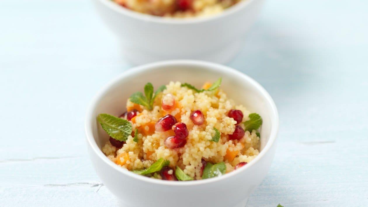 Cous-Cous-Salade avec de Vinaigrette fruit de la passion
