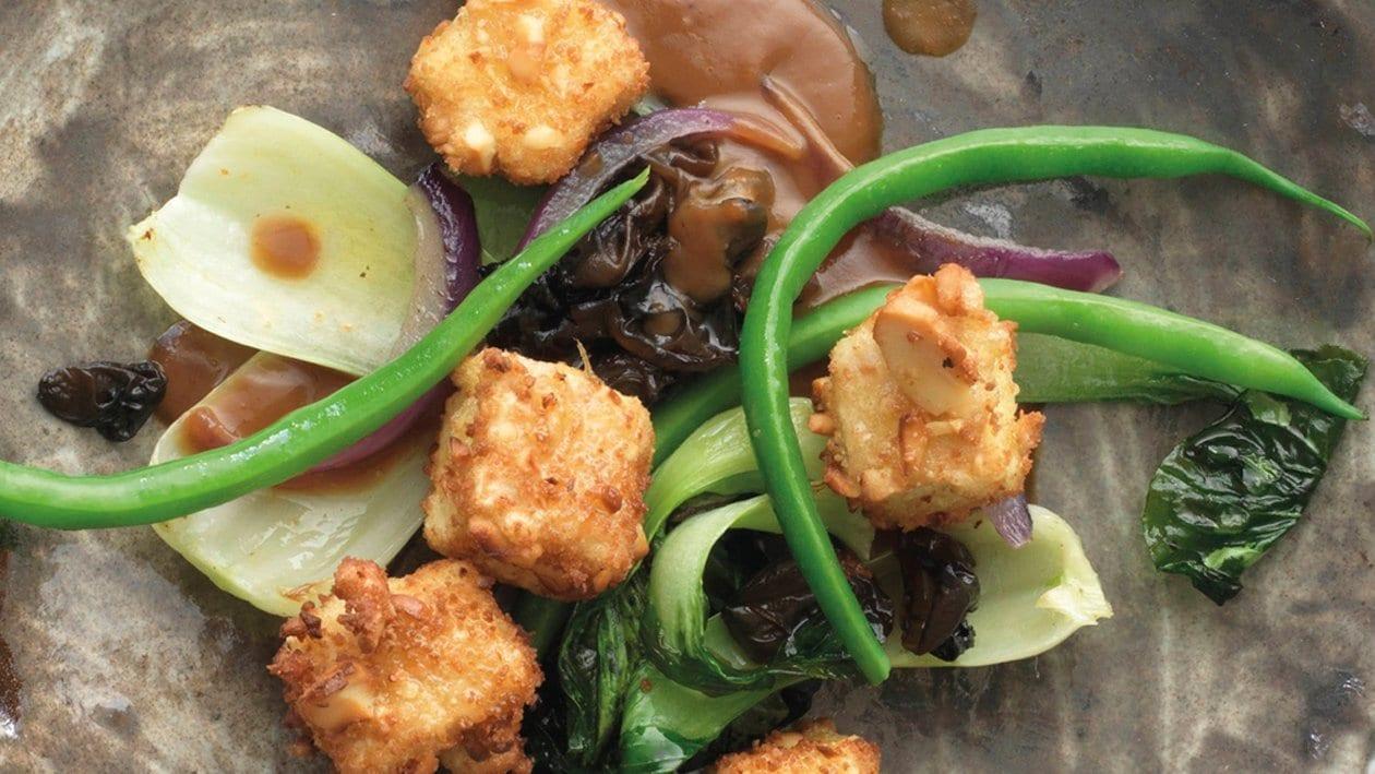 """Poêlé de légumes et de tofu croustillants """"asiatique"""""""