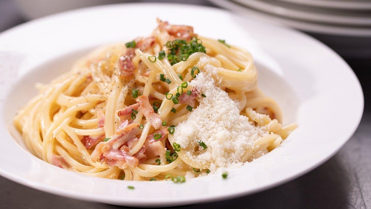 Spaghetti Carbonara, pour grande quantité