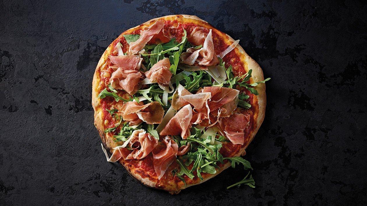Pizza con rucola e prosciutto di Parma
