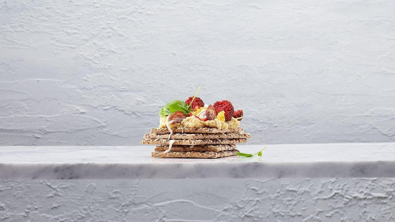 Galettes croustillantes aux falafels