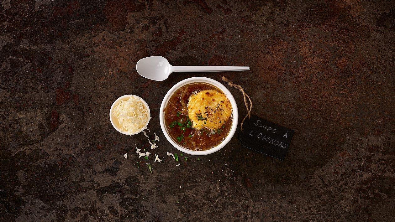 Soupe à l'oignon (à l'emporter)