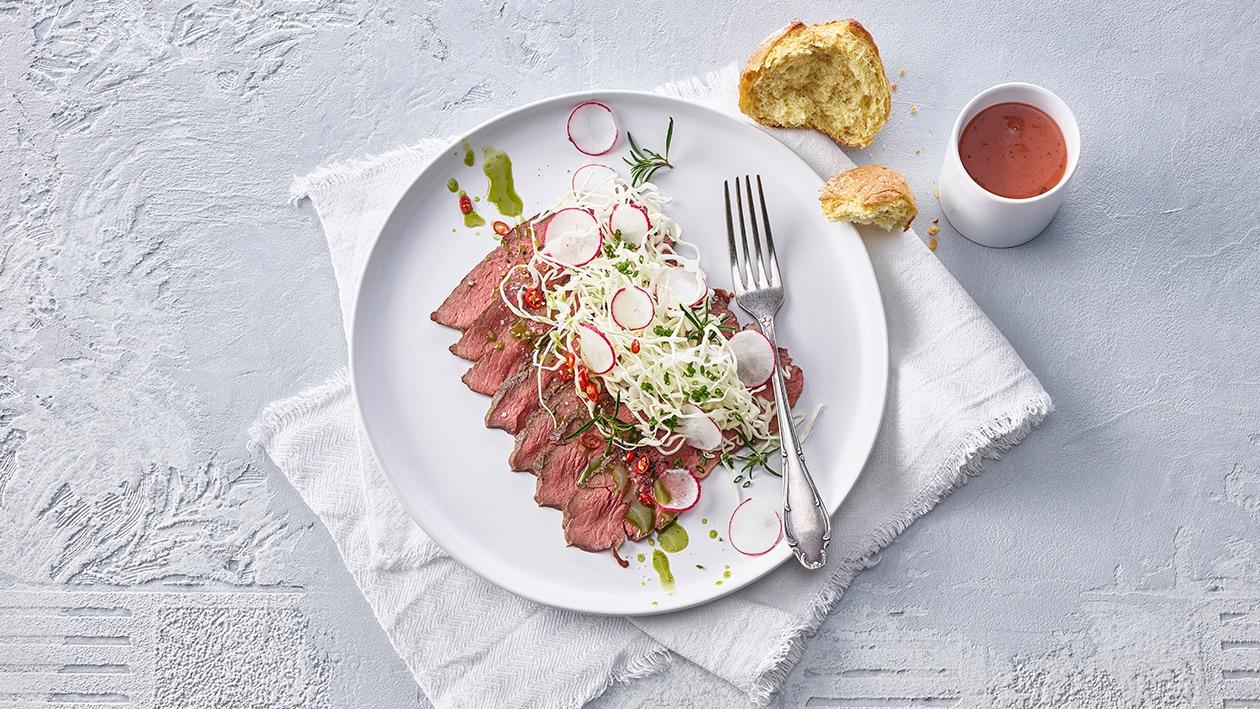 Siedfleisch Salat mit Kabis