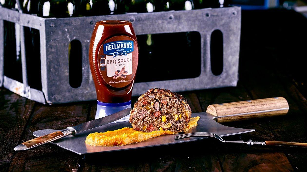 Pain de viande texan et purée de patates douces