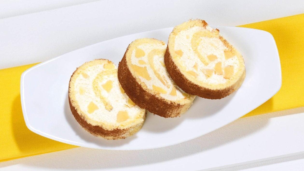 Roulade de biscuit farcie au Kaiserschmarrn (manger en marchant)