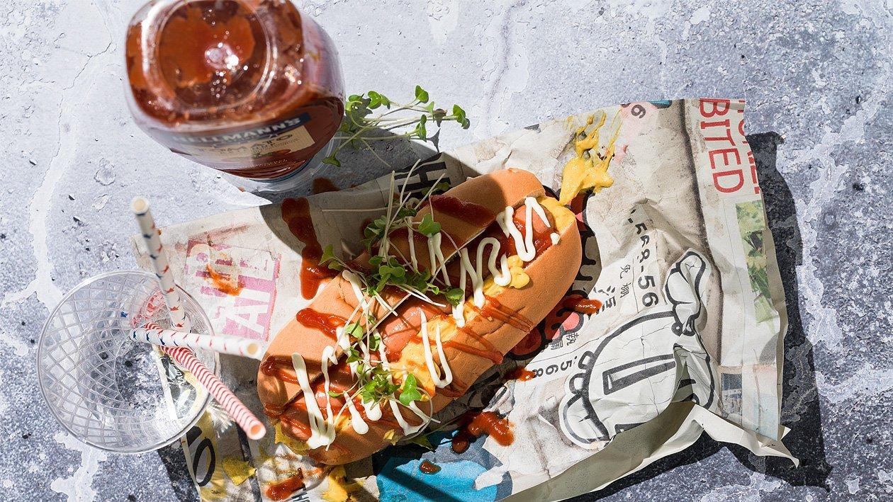 Hot dog, simple et rapide à emporter