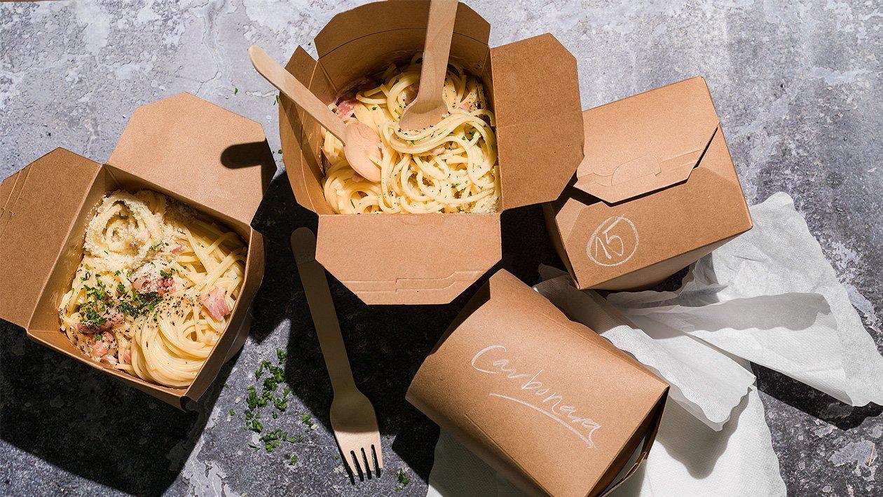 Spaghetti alla Carbonara à emporter